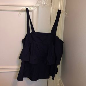 Navy ruffle top from Nordstrom BP size M